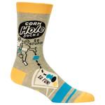 Blue Q Corn Hole M-Crew Socks