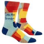 Blue Q Cool-Ass Grandpa - M - Crew Socks