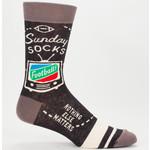 Blue Q Sunday - M - Crew Socks