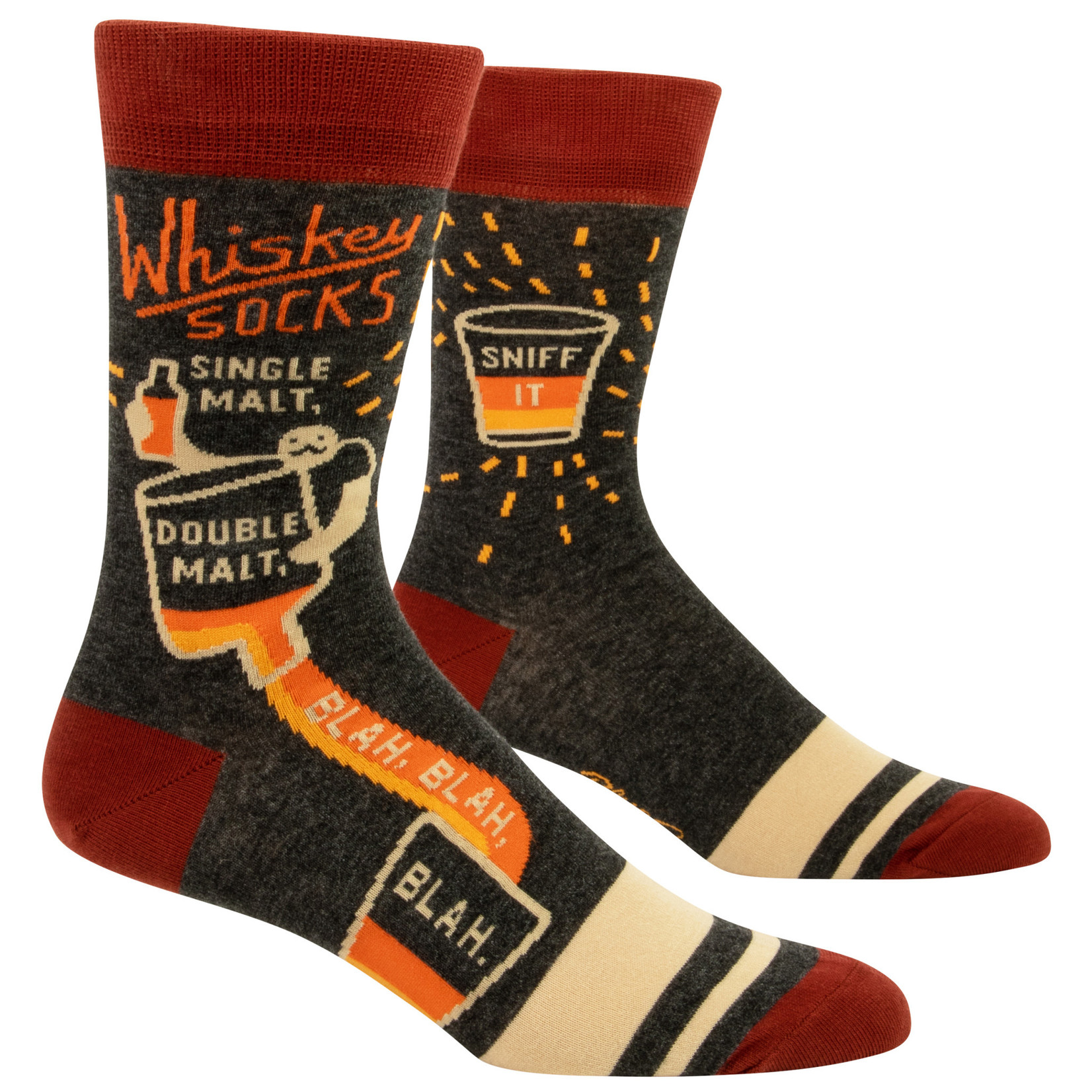 Blue Q Whiskey M-Crew Socks