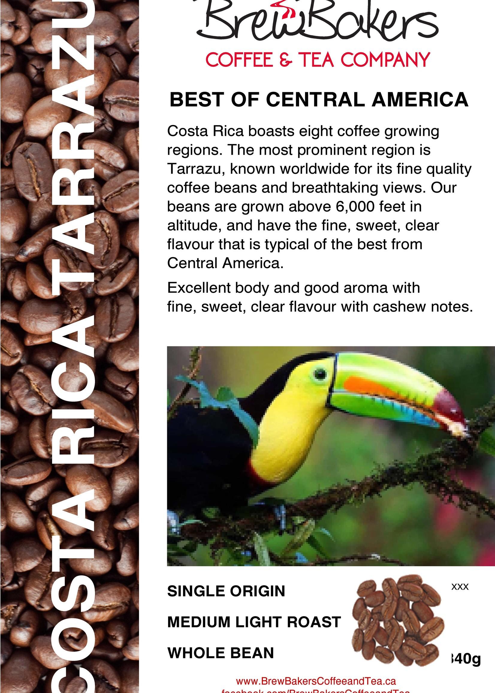 BrewBakers Coffee Bean Costa Rican Terrazu 340g