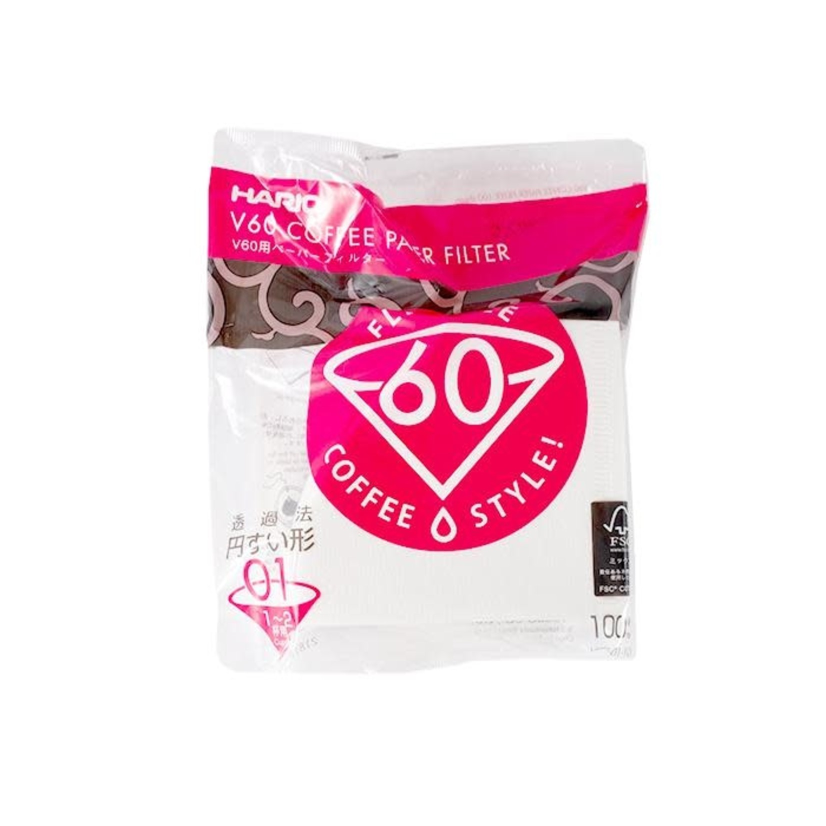 Hario Hario Paper Coffee Filters #1 White (100)