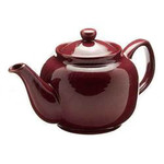BrewBakers Cornwall Tea Pot 8 Cup Burgundy