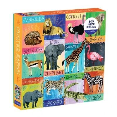 Mudpuppy mudpuppy 500 piece puzzle - Painted Safari