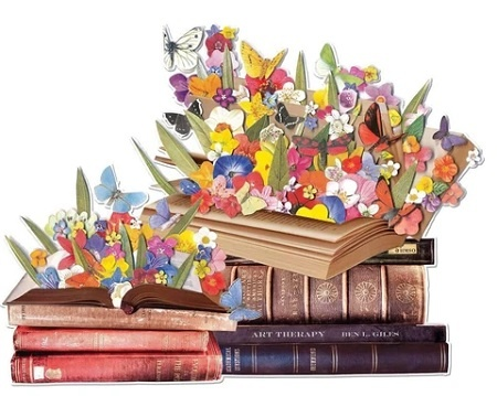 Galison Blooming Books (shaped puzzle)