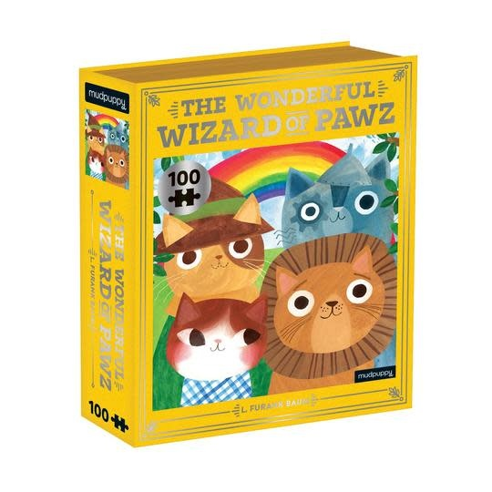 Mudpuppy Bookish Cats 100 piece puzzles - The Wondeful Wizard of Paws