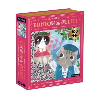 Mudpuppy Bookish Cats 100 piece puzzles - Romeow & Juliet