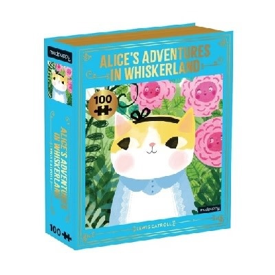 Mudpuppy Bookish Cats 100 piece puzzles - Alice's Adventures in Whiskerland
