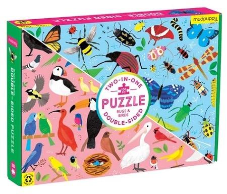 mudpupBugs & Birds (double-sided puzzle)