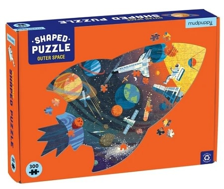 Mudpuppy Outer Space (shaped puzzle)