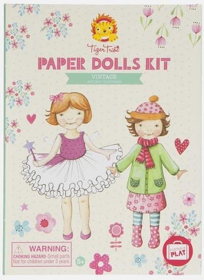 Tiger Tribe Paper Dolls Kit 6+