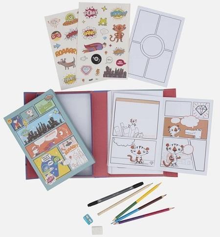 Tiger Tribe Comic Book Kit - 5+