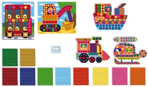 Janod Vehicle Mosaics 4+