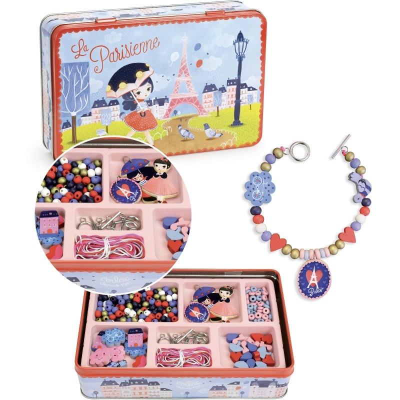 vilac Vilac Wooden Beads & Charms set 4+