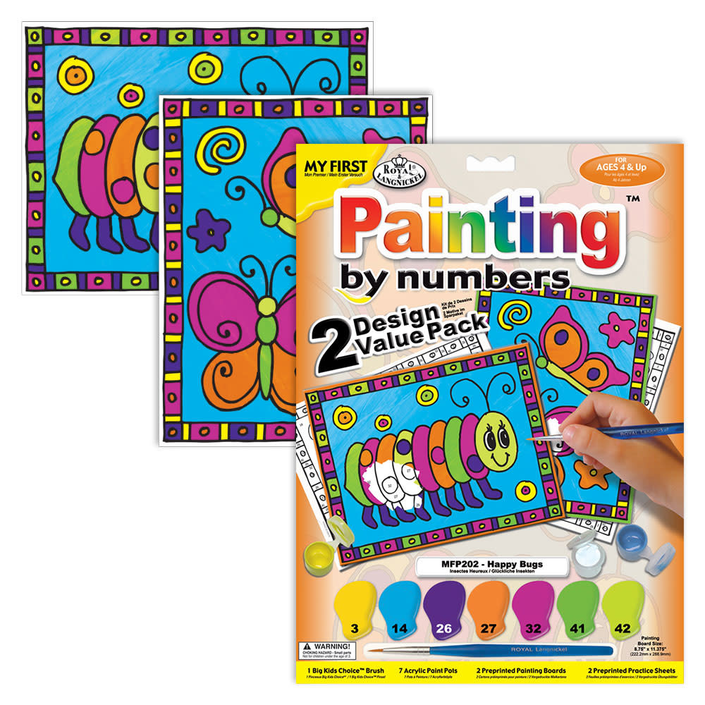 Royal & Langnickel My First Paint by Numbers (2-pack) - Happy Bug 4+