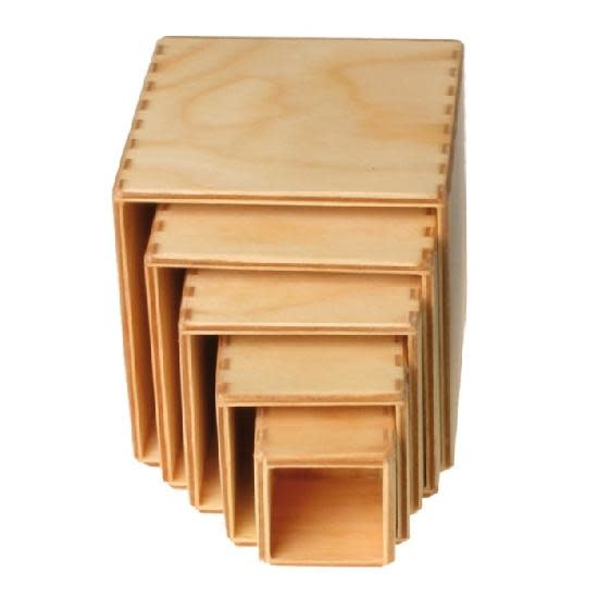 Grimm's Small Stacking Boxes (natural) 1+