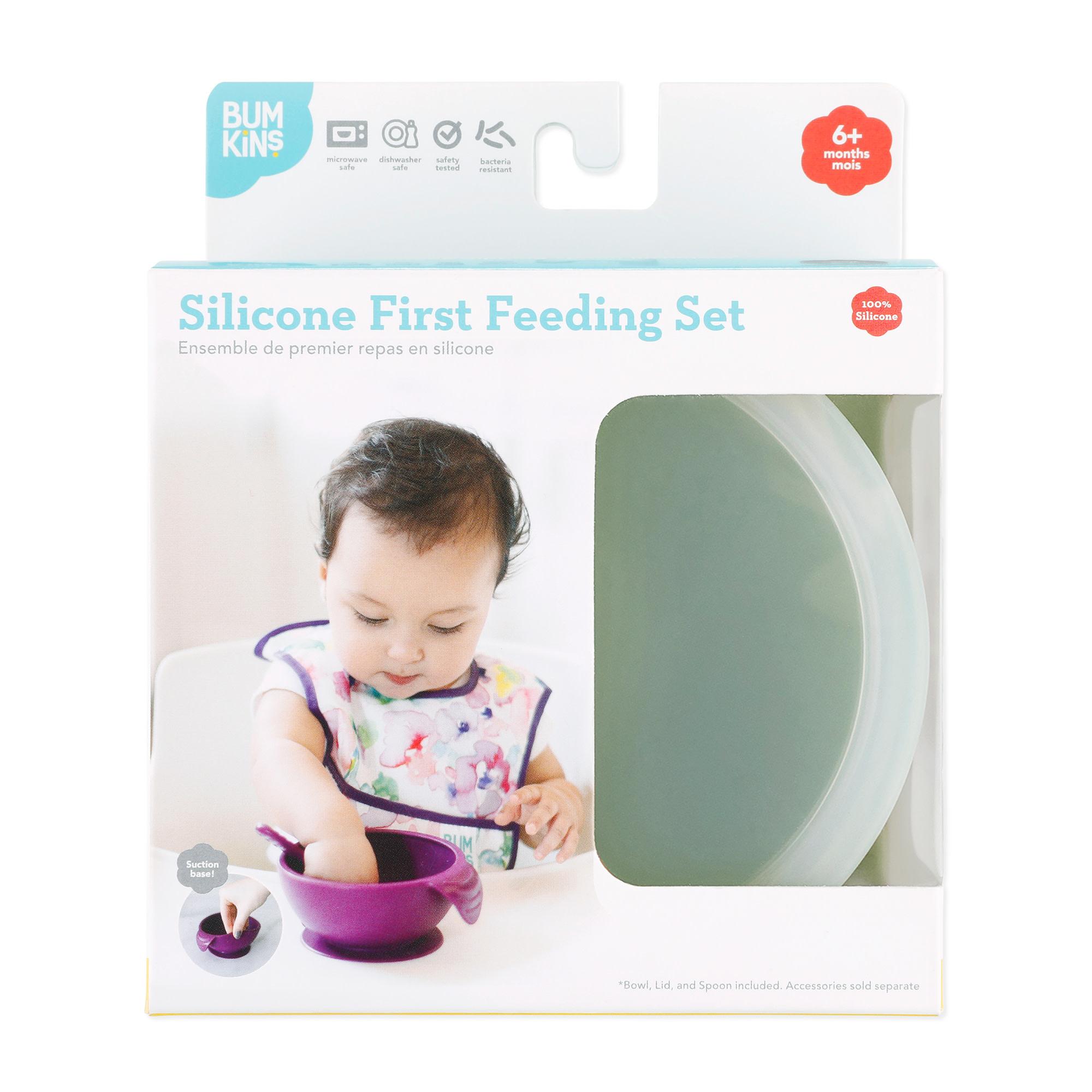 Bumkins Bumkins Silicone First Feeding Set (6m+)