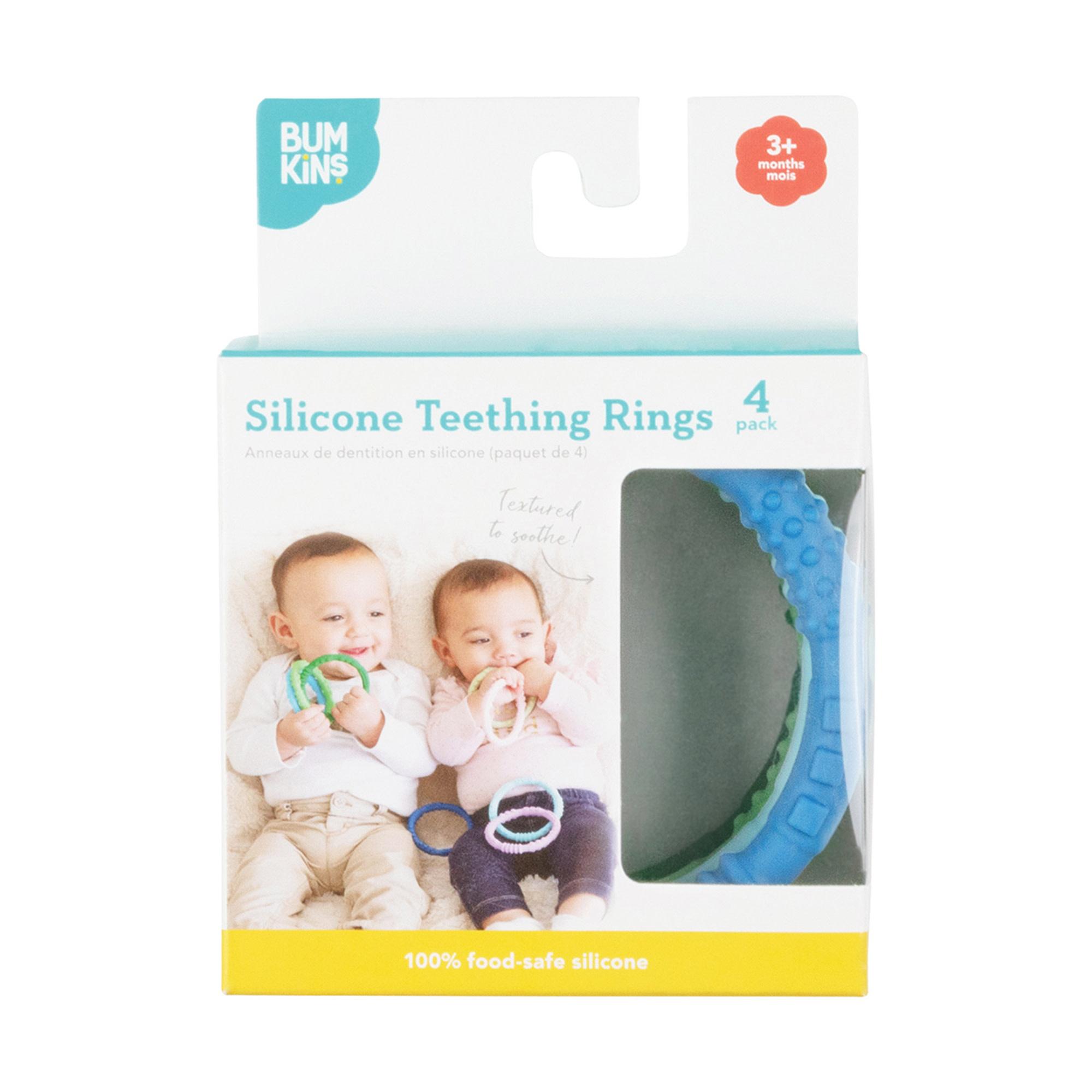 Bumkins Bumkins Silicone Teething Rings 4-pack (3m+)