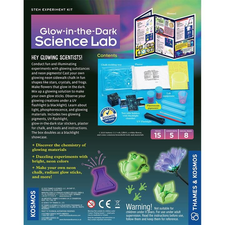 Thames & Kosmos Glow-in-the-Dark Science Lab 8+