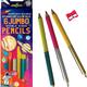 eeboo Jumbo Double-sided Fluorescent & Metallic pencils (6-pack)