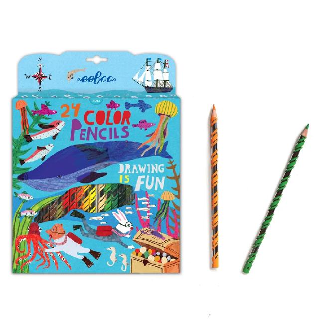 eeboo 24 Color Pencils
