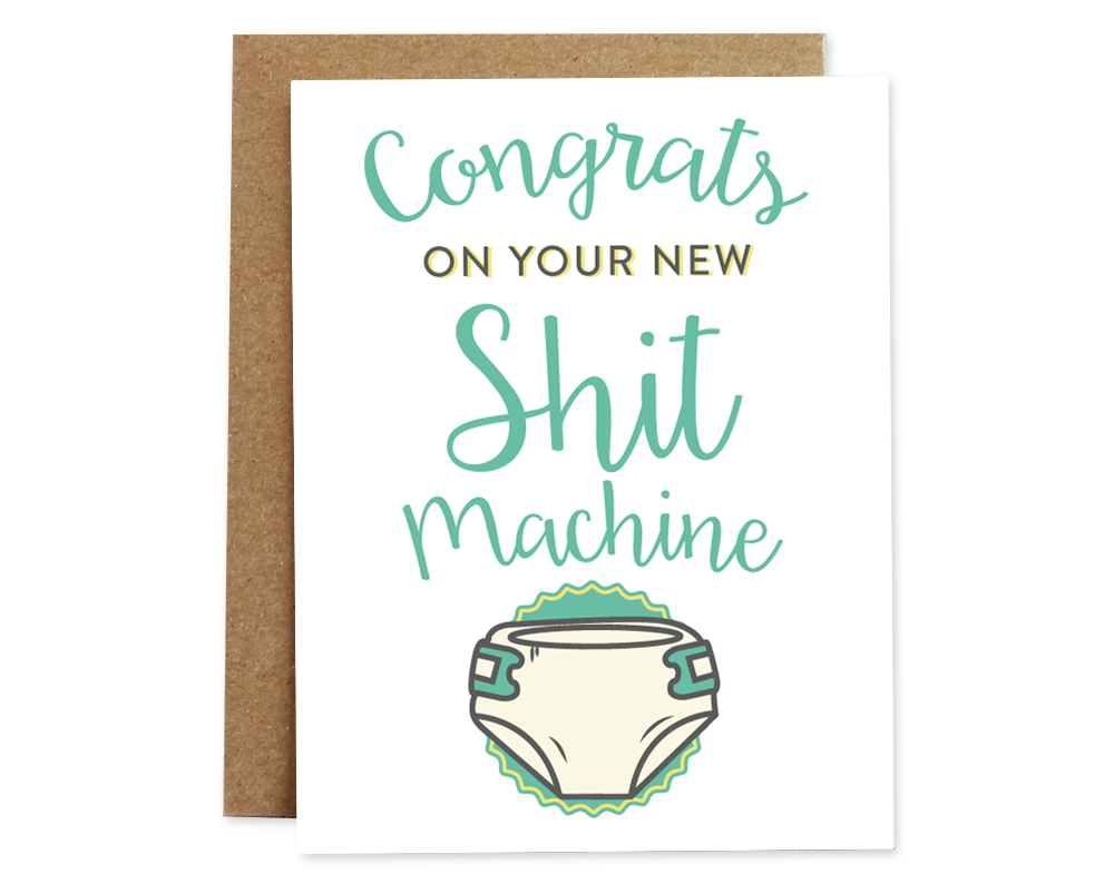 Rhubarb Paper Co. Congrats on your new Shit Machine