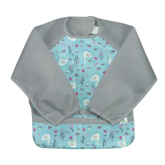Green Sprouts snap & go long sleeved bib (2T-4T)