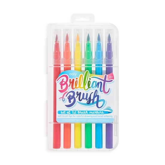OOLY Brilliant Brush Markers (6+)