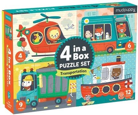 Mudpuppy 4 in a Box Puzzle Set