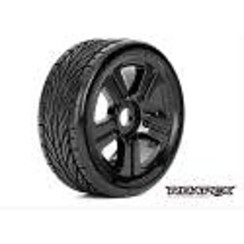 ROPR5001-B Trigger 1/8 Buggy Tires, Mounted on Black Wheels, 17mm Hex (1 pair)