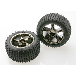 2478a Tires & wheels, assembled (Tracer 2.2' black chrome wheels, Anaconda? 2.2' tires with foam inserts) (2) (Bandit rear)