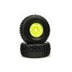 ARA550068 dBoots 'Fortress' Tyre Set Glued Green (Pair)