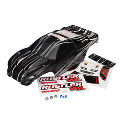 3719 - Body, Rustler® VXL, ProGraphix® (replacement for the painted body. Graphics are printed, requires paint & final color application)/decal sheet/ wing and aluminum hardware