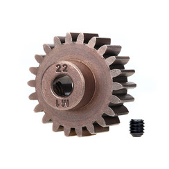6495x Gear, 22-T pinion (1.0 metric pitch) (fits 5mm shaft)/ set screw (for use only with steel spur gears)