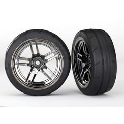 8373 Tires and wheels, assembled, glued (split-spoke black chrome wheels, 1.9' Response tires) (front) (2)
