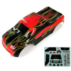 88049-R 1/10 Truck Body, Red Flame