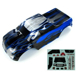 88049-BL 1/10 Truck Body, Black and Blue