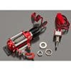 INTC24659RED Realistic Power Winch Red 1/10 Rock Crawler