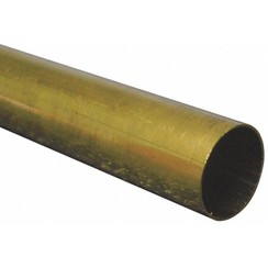 "KNS-81391/2""x12"" Round Brass Tube .014 Wall (1)"