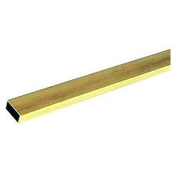 """KNS-82641/8""""x1/4""""x12"""" Rectangular Brass Tube .014 Wall (1)"""