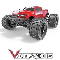 VOLCANO-16 1/16 SCALE ELECTRIC TRUCK Volcano-16 1/16 Scale Monster Truck - Red