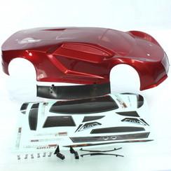R10215 1/10 200mm Onroad Car Body Metallic Red