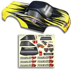 25188-3 1/10 Truck Body Black and Yellow
