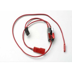 3034 - Wiring harness for RX Power Pack, Traxxas® nitro vehicles (includes on/off switch and charge jack)