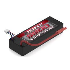 HX-580030C-BV2 Hexfly 5800mAh LiPo Battery with Banana Connector