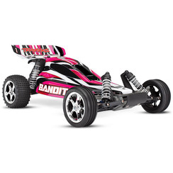 24054-1 - Bandit: 1/10 Scale Off-Road Buggy. Ready-To-Race with TQ 2.4 radio system and XL-5 E.S.C. (fwd/rev). Includes: 7-Cell NiMH 3000mAh Traxxas® battery