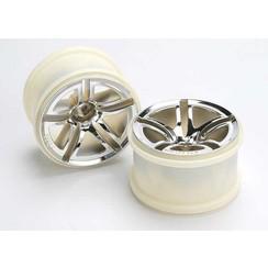 5572 - Wheels, Twin-Spoke 2.8' (chrome) (nitro rear/ electric front) (2)