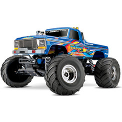 36034-1 - BIGFOOT, CLASSIC, RETRO BLUE Bigfoot® No. 1: 1/10 Scale Officially Licensed Replica Monster Truck. Ready-to-Race® with TQ 2.4GHz radio system and XL-5 ESC (fwd/rev). Includes: 7-Cell NiMH 3000mAh Traxxas® battery