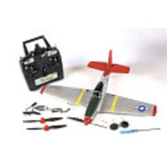 RGRA1300P-51D Mustang Micro RTF Airplane w/PASS