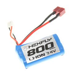 rer13656 Pack, Type 14500 (Li-ion 7.4V,800mAH),T PLUG